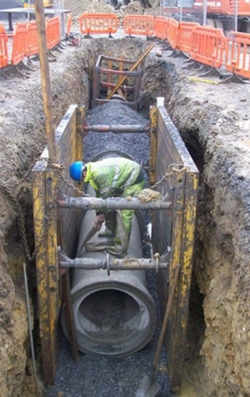 Open Cut Underground Pipe Installation