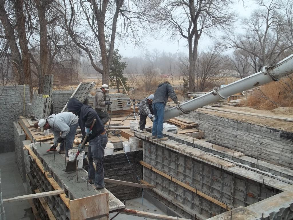 Placing Foundation Wall Concrete