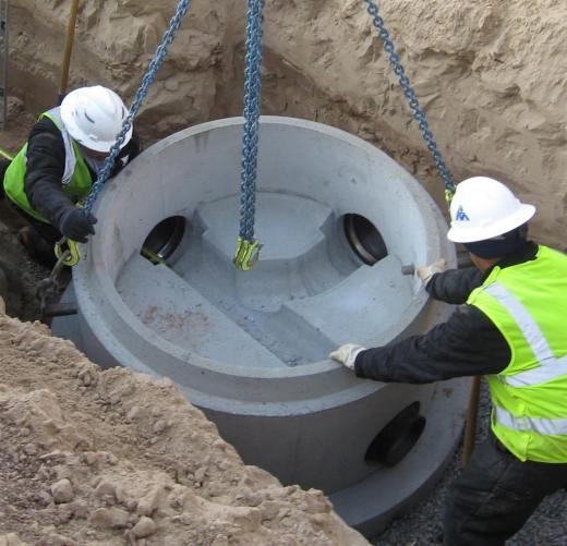 Precast Concrete Sewer Pipe : Sanitary manholes
