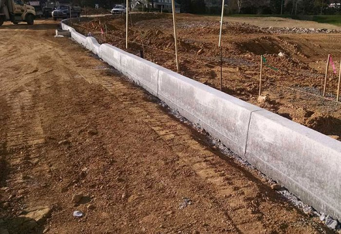 Concrete Curb Slip Formed