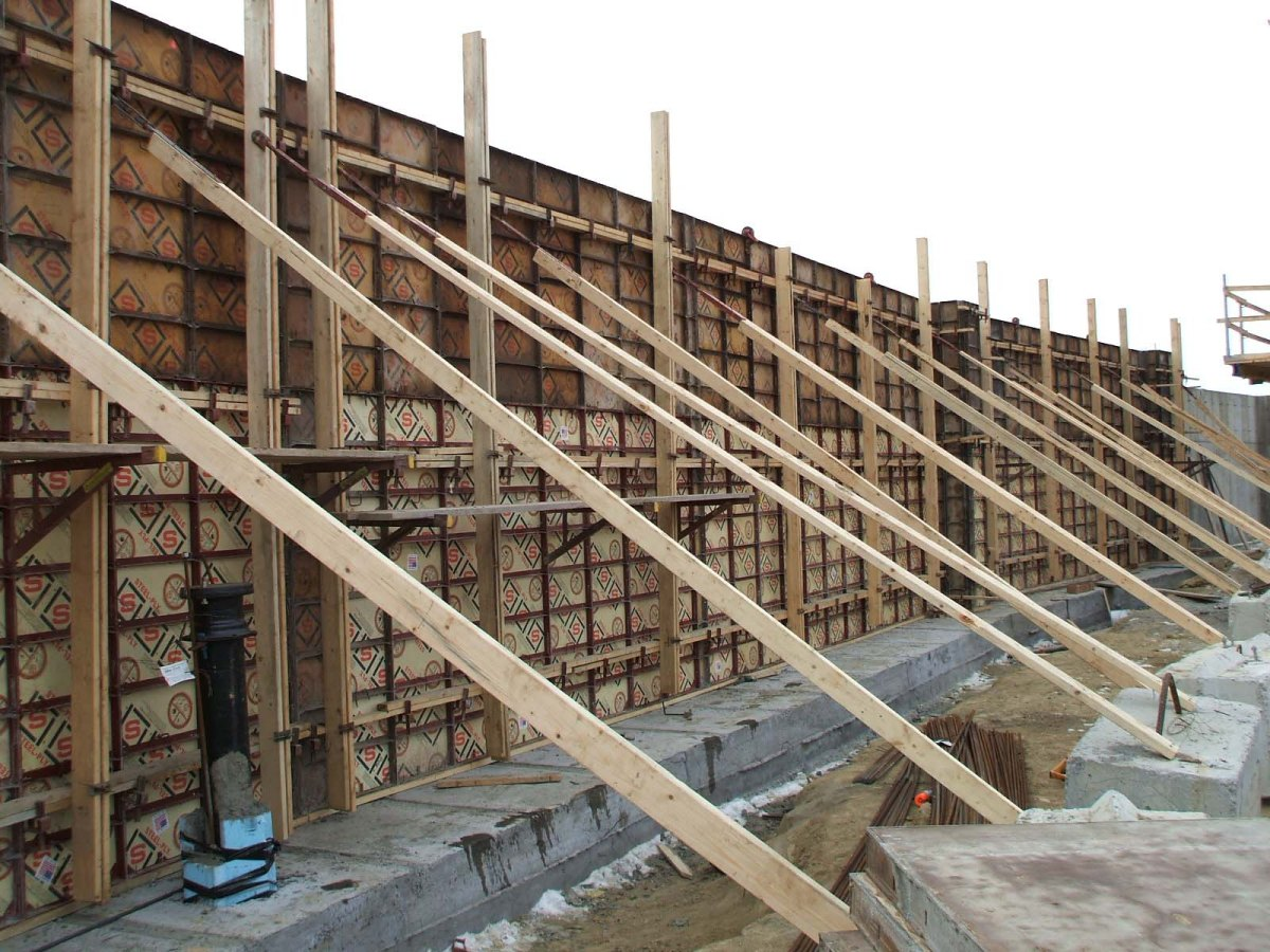 Forming concrete foundation walls for Basement wall forms
