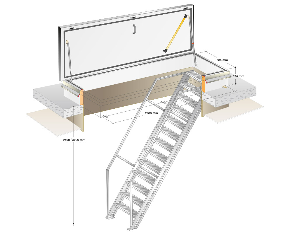 Firstly The Roof Hatch Opening Must Be Framed For Structural Stability And  An Appropriate Substrate For Attachment. This May Be Done With Reinforcing  2x ...