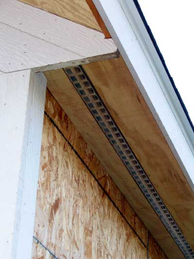 Wood Siding Ventilation : Soffit and eave vents